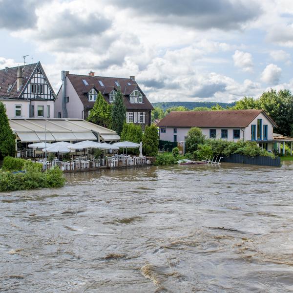 Hochwasser Foto: Norbert Zingel